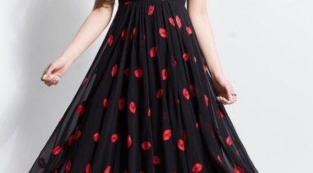 rochie maxi neagra