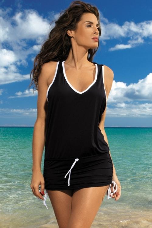 Rochie de plaja neagra-min