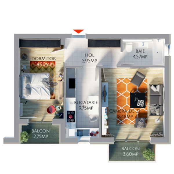 2-camere-tip-III-B_plan_balcon-mic-min