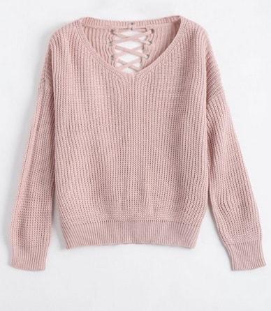 Pulover roz-min
