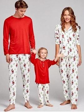 Pijamale asortate pentru familie zaful-min