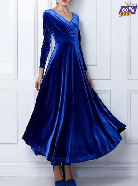 Rochie de catifea-min