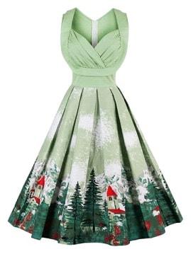 Rochie verde de Craciun-min